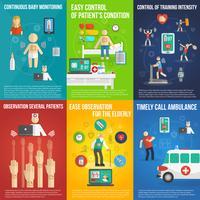 Elektronische patch mini-poster set veelkleurig vector
