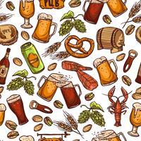 Bier naadloze patroon vector