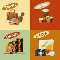 Afrikaans ontwerpconcept vector