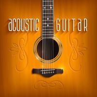 Akoestische gitaar achtergrond vector