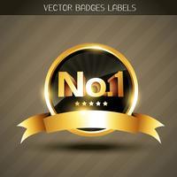 vector winnaar gouden label