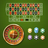 Europese Roulette Set vector