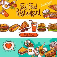 fastfood-banners vector