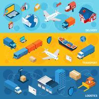 Logistieke bannerset vector