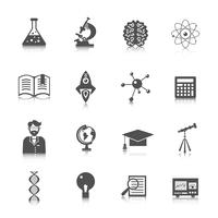 Wetenschap en onderzoek pictogram vector