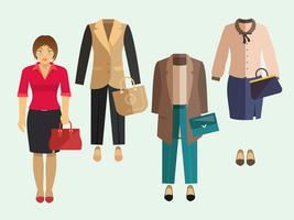 Zakelijke vrouw kleding instellen