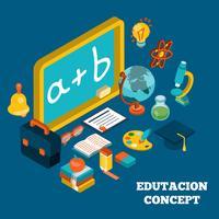 Onderwijs isometrisch concept