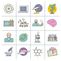 Wetenschap en onderzoek platte lijn