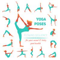 Yoga houd pictogrammen
