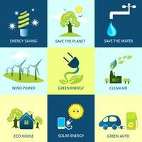 Ecologie concepten instellen vector