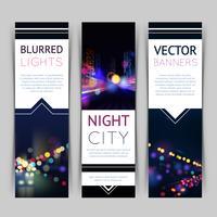 Stad Banner Verticaal vector