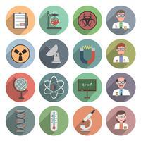 wetenschap pictogram plat