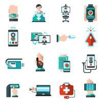 Digitale geneeskunde pictogrammen vector