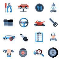 Auto reparatie pictogrammen vector