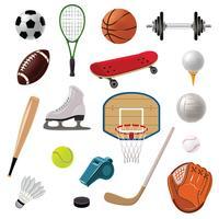 sportartikelen pictogrammen instellen
