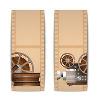 Cinema banners verticaal vector