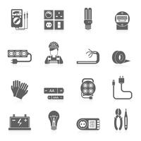 Elektriciteit Icons Set vector