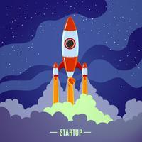 Opstarten raketlancering