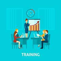 Zakelijke training platte pictogram vector