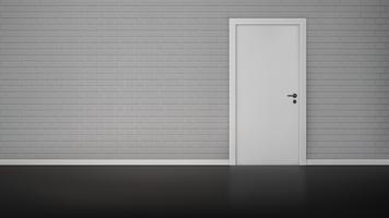 Bakstenen muur met deur