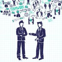 Vergadering mensen illustratie