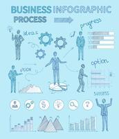 Schets zakelijke mensen Infographics vector