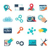 SEO Marketing vlakke pictogrammen