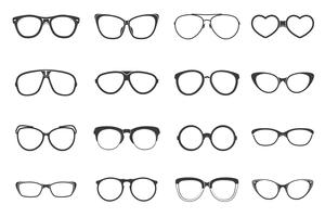 Brillen Set Flat vector