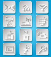 Draadloze communicatienetwerk pictogrammen instellen