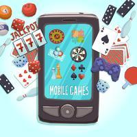 Mobiele telefoon games concept vector