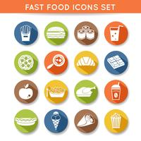 Fast-food pictogrammen vector