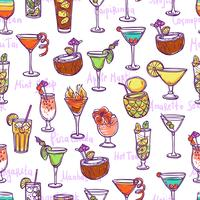 Cocktail naadloze patroon vector