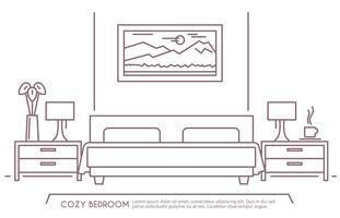 Slaapkamer meubilair overzicht vector