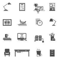 Kamer interieur pictogrammen vector