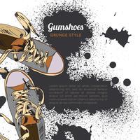 Gumshoes schets grunge vector