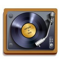 Vinyl platenspeler afdrukken vector