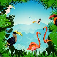 Tropische bos achtergrond