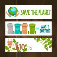 eco-banners instellen vector