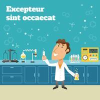 Wetenschapper in het lab