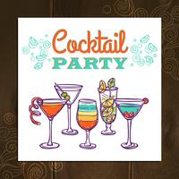 Cocktailparty Poster vector