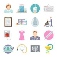 Verpleegkundige Icon Flat