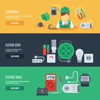 Banner-set voor elektriciteit