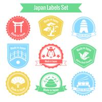 Gemaakt in Japan labelset vector