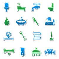 Sanitair gereedschap sticker collectie
