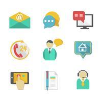klant helpdesk contacteert ontwerpelementen vector