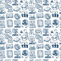 Online onderwijs pictogram naadloze achtergrond vector