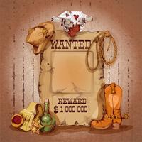 Wild west-poster vector