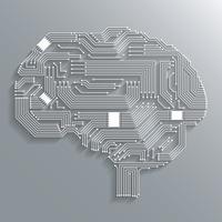 Printplaat hersenen vector