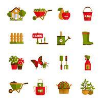 Tuinieren Icons Set vector