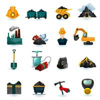 Mijnbouw Icons Set